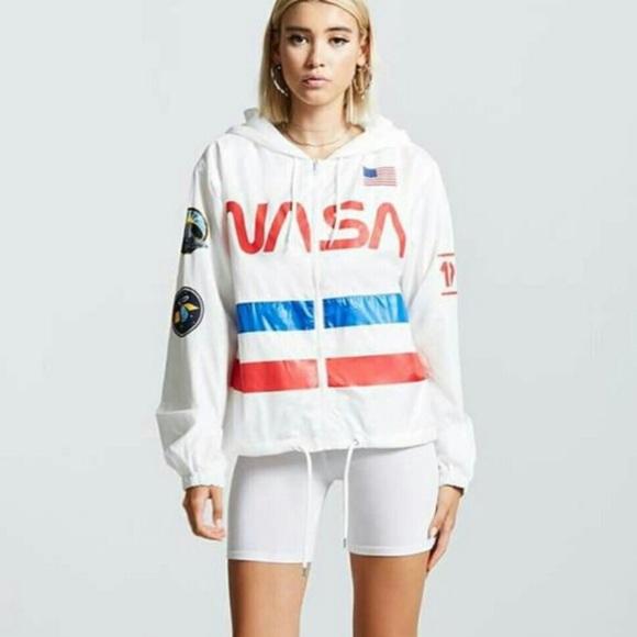 297affbb3df7c Forever 21 Jackets   Blazers - NASA Graphic WindBreaker